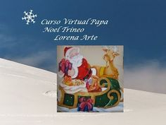 Curso Virtual  Navideño Papá Noel Trineo Cover, Lead Sled, Pyrography, Art, Papa Noel