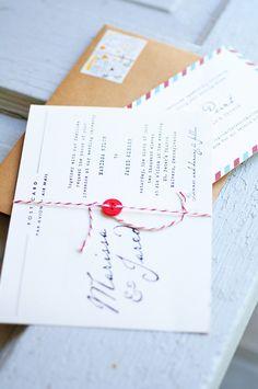 postcard invitations - so simple and pretty