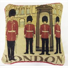 Clic London Guards Buckingham Palace Tapestry Velvet 18 Cushion Cover