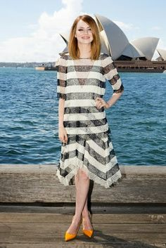 Emma Stone welcomes Spring in a Chloé