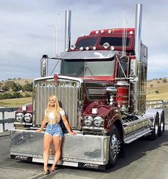 Big Rig Trucks, Semi Trucks, Cool Trucks, Trucks And Girls, Car Girls, Sexy Cars, Hot Cars, Trailers, American Truck Simulator