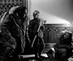 Jack Nicholson, Stanley Kubrick, and Shelley Duvall on the set of The Shining (January, 1979)
