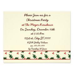 Christmas Holiday party Invitation #Christmas #Holidays