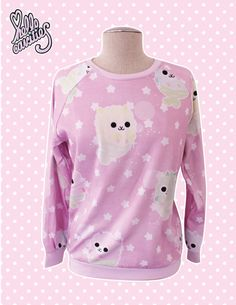 Hello Cavities Mermaid Alpaca Sweatshirt in PINK by hellocavities, $57.00