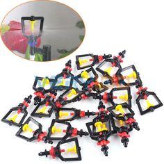 20 unids humidificador de riego girando Micro aspersión de la boquilla de plástico de efecto invernadero