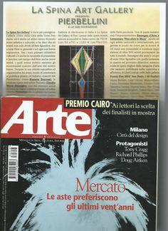 Rivista ARTE Mondadori, Cairo Editore, N.356, Aprile 2003, Milano, ITALIA: La Spina Art Gallery presenta Ernesto Treccani, Claudiu Victor Gheorghiu e Pier Luigi Bellini .