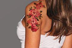 Pretty Flower Temporary Tattoos