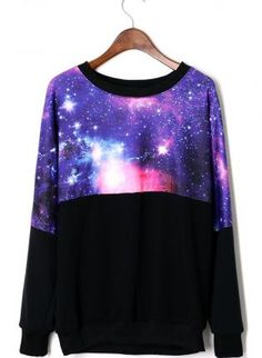 This >> #ilovesweaters  // Galaxy Contrast Sweater