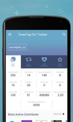 #Android приложение TweeTap для #Twitter поможет отслеживать статистику своего аккаунта, чужих и по ключевым словам https://play.google.com/store/apps/details?id=com.tweetap&utm_content=social-4lgo9&utm_medium=social&utm_source=SocialMedia&utm_campaign=SocialPilot