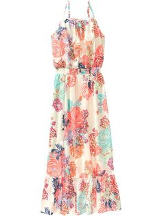 Girls Floral Maxi Dresses Product Image