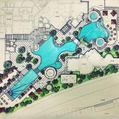 그리다만 호텔수영장~역시 정리하며 살아야되~ 머가툭툭티나온다는~ Bs #Environmental #Design #Group #LandscapeArchitecture & #Associates #sketch #drawing #plan #note #conceptplan