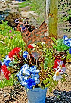 Dachshund Grave Marker Plant Stake / Metal Garden Art / Pet Memorial / Garden Copper Art / Angel Decor / Yard Art / Indoor Outdoor Sculpture by GardenCopperArt on Etsy