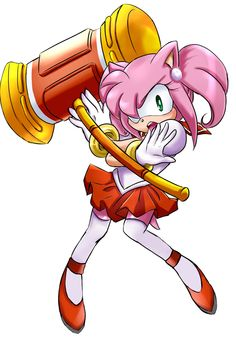 My name is Sailor Rose, and in the name of Sonic, I SHALL DEFEAT YOU! XD What do you think of the Amy x Sailor Moon idea?