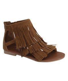 Tan Fringe Favorite Sandal #zulily #zulilyfinds