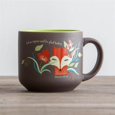 Jumbo mug for sipping coffee, spooning out soup, or keeping your hands warm; in ergonomical new design for a comfortable mug to hold. 16 ounce mug;Let us rejoice and be glad today. Let Us Rejoice, Fox Jumbo Mug Coffee Love, Coffee Mugs, Christian Gifts For Women, Rejoice And Be Glad, Psalm 118, Christian Messages, Inspirational Gifts, Words Of Encouragement, Hand Warmers
