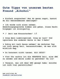 Gute tipps vom Alkohol