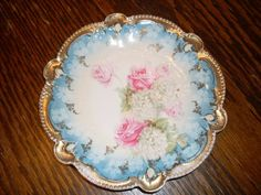 RS Prussia Rose Painted Dessert/Salad Plate