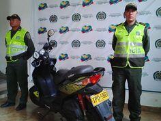 La motocicleta había sido hurtada en el municipio de Guaduas Cundinamarca