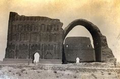 All that remains above ground of the ancient city of Ctesiphon, in the central part of modern day Iraq