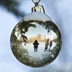 Christmas Photos - reflection would be neat!