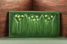 Prairie Art Tile. Looks like Lily of the Valley. My birth flower (May)