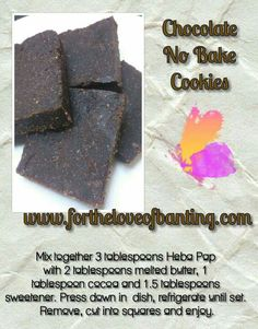Chocolate No Bake Cookies, Chocolate Chips, Lchf, Keto, Paleo, Banting Recipes, Recipies, Low Carb, Treats