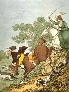 """Easter Monday, or the Cockney Hunt""  in Epping Forest, 1807  (London Metropolitan Archives, via Flickr)"