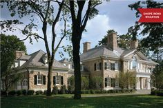 Located in Lower Westchester County, New York, this home designed by Shope Reno Wharton was inspired by the architecture of Mott Schmidt, who was best known for his classical American Georgian style buildings.