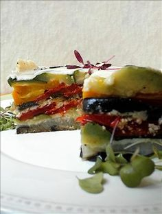 Ina Garten's Roasted Vegetable Torte (Barefoot Contessa) ... one of my absolute favs <3