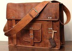 Tan Leather Messenger Bag Leather Satchel Retro Style Shoulder Bag on Etsy, $29.00
