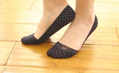 Sweet little lace socks with polka dots . How cute are they ! Perfect liner for your flat shoes :) . Sweet ♥