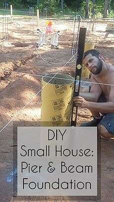 Building a small house pier and beam foundation #smallhouse #foundation #tinyhouse #beekeepersbungalow #diyhouse