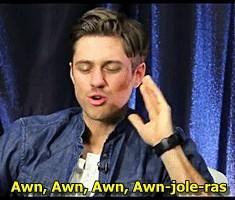 aaron tveit...pronunciation of enjolras never gets old :)