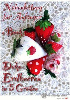 Deko Erdbeere aus Stoff in 5 Größen - Pdf-Datei Nähanleitung & Schnitt für Anfänger Kostenlose handmade with Love by firstloungeberlin