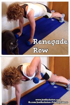 MOVE OF THE DAY--RENEGADE ROW work your arms, core and back. Click through for directions.
