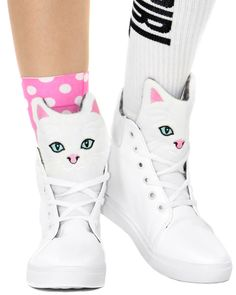 KITTY HIGH TOP SNEAKERS