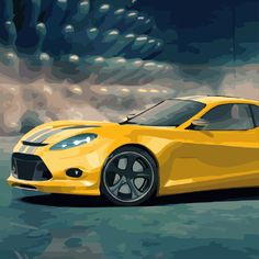 Just painted this picture in the new coloring app: Oil Painting App, Oil Painting Supplies, Car Painting, Number 12, Paint By Number, Funny Animal Jokes, Funny Animals, Yellow Car, Color By Numbers