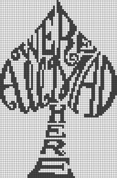 We' re All Mad Here - Alice in Wonderland Quote Perler Bead Pattern