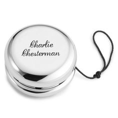 A unique and stylish toy which will be cherished forever. Personalised Silver Plated YoYo - yourgifthouse