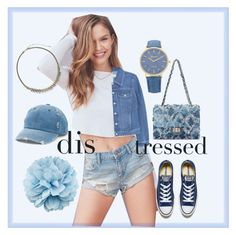 """""""Distressed Denim ♥️♥️♥️"""" by dns328 on Polyvore featuring BDG, MANGO, Converse, Gucci, Mudd and Sorrelli"""