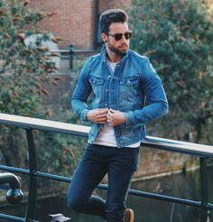 herrmode hösten 2017 jeansjacka jeans kängor
