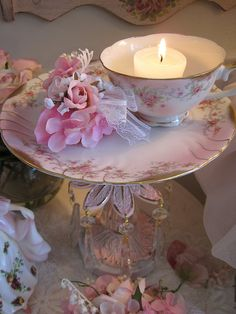 ♔ Floral By Candlelight