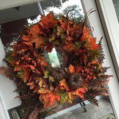 Festive Fall Wreath - love to make a new one each fall!