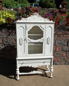 OMG Shabby Designer White CHIC China CABINET Cupboard