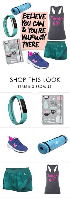 """Believe you can!"" by hopskipjumppaper on Polyvore featuring Fitbit, New Balance, adidas and Lorna Jane"