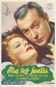 Otra Vez Juntos - Programa de Cine - Irene Dunne - Charles Boyer Together Again, Romance, Tv, Actors, Boys, Movies, Movie Posters, Irene, Divas