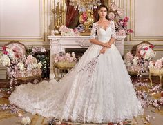 Wedding Dress Photos - Find the perfect wedding dress pictures and wedding gown photos at WeddingWire. Browse through thousands of photos of wedding dresses. Illusion Neckline Wedding Dress, Sheer Wedding Dress, Perfect Wedding Dress, Wedding Gowns, Dress Lace, Lace Wedding, Wedding Dresses Sydney, Wedding Dress Pictures, Wedding Dress Shopping