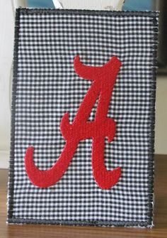Alabama Fabric Postcard by fabricmom1 on Etsy, $5.99