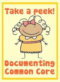 Take a peek inside a Common Core Documentation Book.