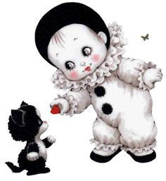 ruth morehead - Page 3 Clown Mignon, Animal Pictures, Cute Pictures, Beau Gif, Scrapbook Images, Cute Clown, Pierrot, Baby Clip Art, Baby Art